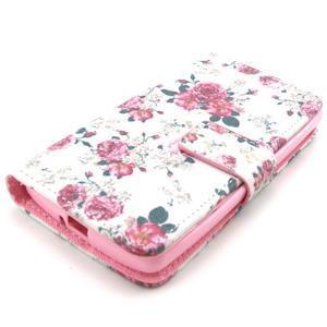 Style peněženkové pouzdro na LG Leon - květiny - 3