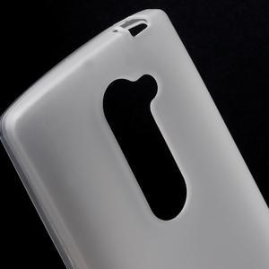Matný gelový obal na mobil LG Leon - bílý - 3