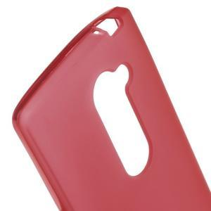 Matný gelový obal na mobil LG Leon - červený - 3