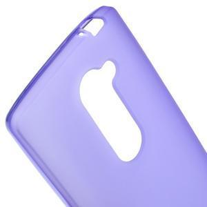 Matný gelový obal na mobil LG Leon - fialový - 3