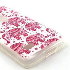 Pictu gelový obal na LG Leon - růžoví sloni - 3