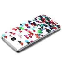 Transparentní gelový obal na mobil LG Spirit - srdíčka - 3/4