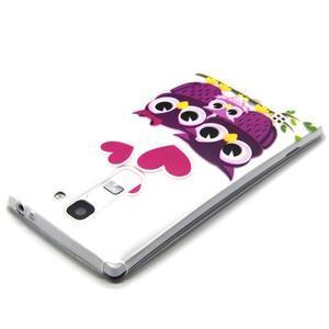 Transparentní gelový obal na mobil LG Spirit - zamilované sovičky - 3