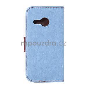 Jeans peněnžekové pouzdro pro HTC One Mini 2 - světle modré - 3