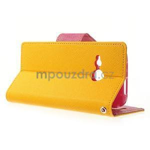 Style peněženkové pouzdro HTC One Mini 2 - žluté - 3