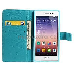 Obrazové peněženkové pouzdro na Huawei Ascend P7 - abstrakt - 3