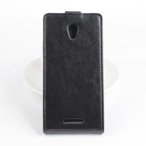 Flipové pouzdro na mobil Lenovo A5000 - černé - 3