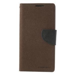 Fancy peněženkové pouzdro na Sony Xperia Z2 - hnědé - 3