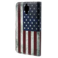 Cross peněženkové pouzdro na Xiaomi Mi4 - US vlajka - 3/7