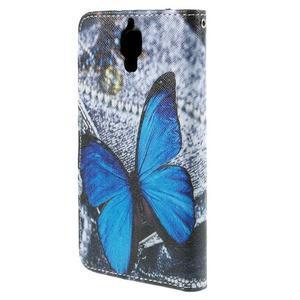 Cross peněženkové pouzdro na Xiaomi Mi4 - modrý motýl - 3