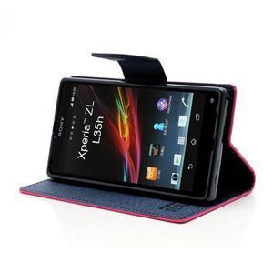 Mr. Goos peněženkové pouzdro na Sony Xperia Z - rose - 3