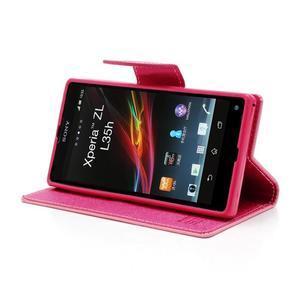 Mr. Goos peněženkové pouzdro na Sony Xperia Z - růžové - 3