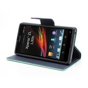 Mr. Goos peněženkové pouzdro na Sony Xperia Z - azurové - 3