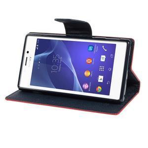 Mr. Goos peněženkové pouzdro na Sony Xperia M2 - červené - 3