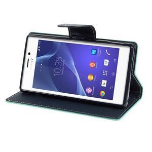 Mr. Goos peněženkové pouzdro na Sony Xperia M2 - azurové - 3