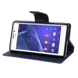 Mr. Goos peněženkové pouzdro na Sony Xperia M2 - fialové - 3