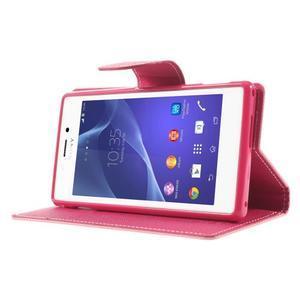 Mr. Goos peněženkové pouzdro na Sony Xperia M2 - růžové - 3