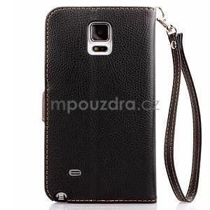Peněženkové pouzdro s poutkem na Samsung Galaxy Note 4 - černé - 3