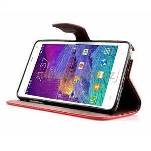 Peněženkové pouzdro s poutkem na Samsung Galaxy Note 4 - červené - 3