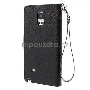 Stylové peněženkové pouzdro na Samsnug Galaxy Note 4 - černé - 3