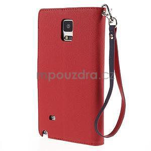 Stylové peněženkové pouzdro na Samsnug Galaxy Note 4 - červené - 3