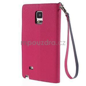 Stylové peněženkové pouzdro na Samsnug Galaxy Note 4 - rose - 3
