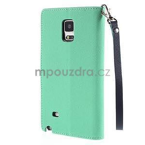 Stylové peněženkové pouzdro na Samsnug Galaxy Note 4 - azurové - 3