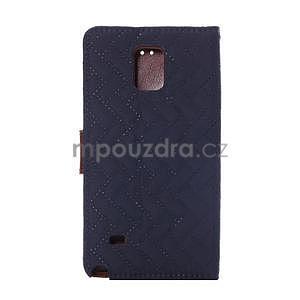 Elegantní penženkové pouzdro na Samsung Galaxy Note 4 - tmavě modré - 3