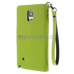 Stylové peněženkové pouzdro na Samsnug Galaxy Note 4 - zelené - 3