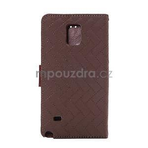 Elegantní penženkové pouzdro na Samsung Galaxy Note 4 - hnědé - 3