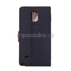 Elegantní penženkové pouzdro na Samsung Galaxy Note 4 - černé - 3