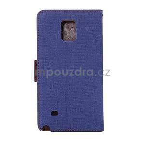 Jeans peněženkové pouzdro pro Samsung Galaxy Note 4 - modré - 3