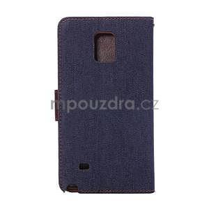 Jeans peněženkové pouzdro pro Samsung Galaxy Note 4 - tmavě modré - 3