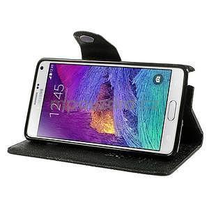 Zapínací peněženkové poudzro Samsung Galaxy Note 4 - černé - 3