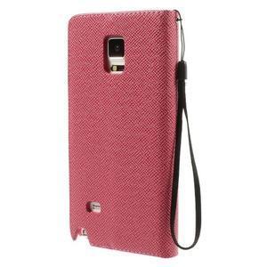 Zapínací peněženkové poudzro Samsung Galaxy Note 4 - rose - 3