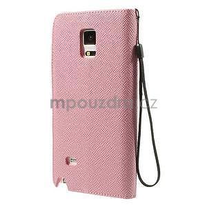 Zapínací peněženkové poudzro Samsung Galaxy Note 4 - růžové - 3