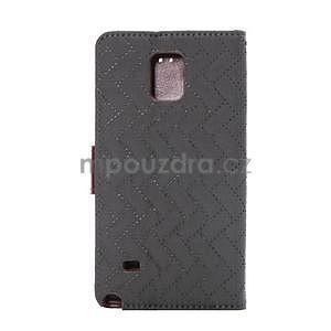 Elegantní penženkové pouzdro na Samsung Galaxy Note 4 - šedé - 3