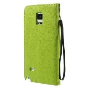 Zapínací pěneženkové poudzro Samsung Galaxy Note 4 - zelené - 3
