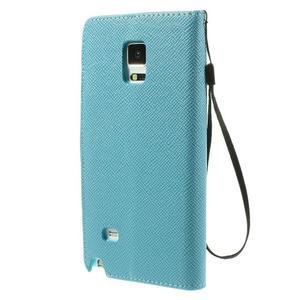 Zapínací peněženkové poudzro Samsung Galaxy Note 4 - světle modré - 3