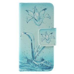 Peněženkové pouzdro na mobil Samsung Galaxy A3 (2016) - vodní květ - 3