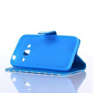 Standy peněženkové pouzdro na Samsung Galaxy Core Prime - modrý vzor - 3