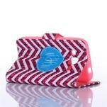 Standy peněženkové pouzdro na Samsung Galaxy Core Prime - červený vzor - 3/5