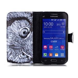 Emotive peněženkové pouzdro na Samsung Galaxy Core Prime - sova - 3