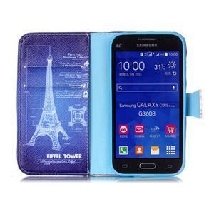 Emotive peněženkové pouzdro na Samsung Galaxy Core Prime - Eiffelova věž - 3