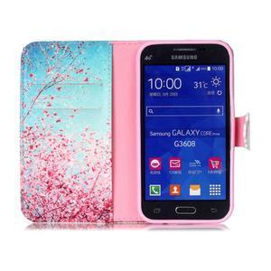 Emotive peněženkové pouzdro na Samsung Galaxy Core Prime - kvetoucí švestka - 3