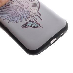 Hardy gelový obal na mobil Samsung Galaxy Core Prime - antické hodiny - 3