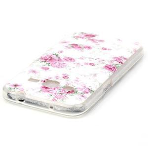 Softy gelový obal Samsung Galaxy Core Prime - květiny - 3