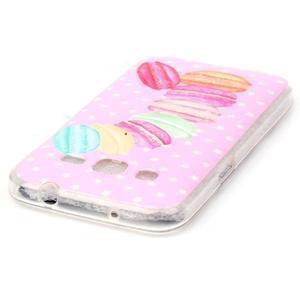 Softy gelový obal Samsung Galaxy Core Prime - makrónky - 3