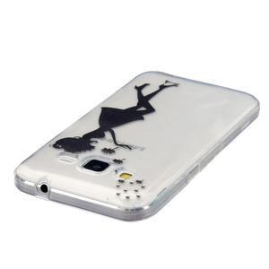 Transparentní gelový obal na Samsung Galaxy Core Prime - dívka pampelišek - 3