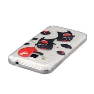 Transparentní gelový obal na Samsung Galaxy Core Prime - monstra - 3